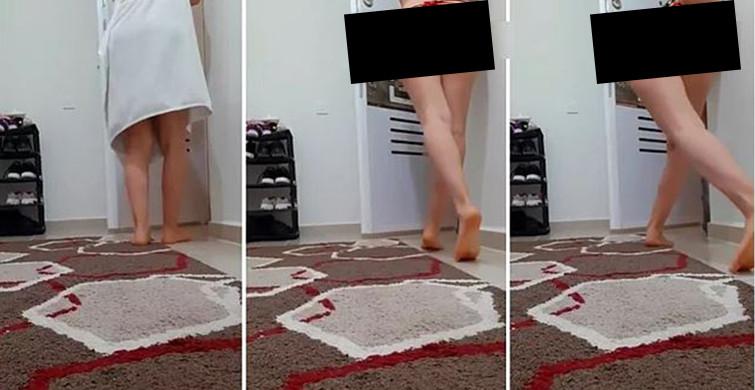 İç Çamaşırlarıyla Kapıyı Açan Kadın Sosyal Medyada Tepki Çekti!