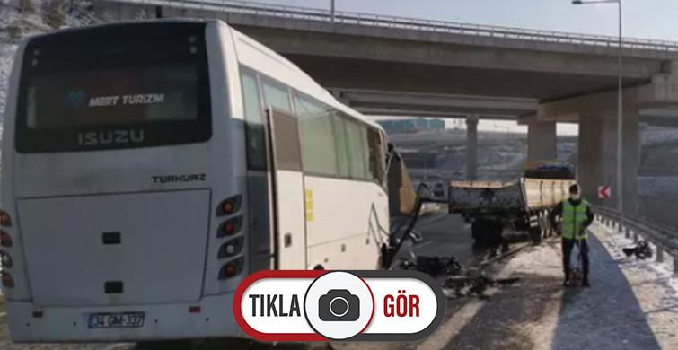 Yolcu Otobüsü Tırla Çarpışı, Çok Sayıda Yaralı Var!