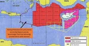Türkiye'nin Doğu Akdeniz'de Yeni Ruhsat Sahaları Haritası - 1