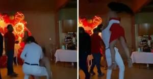 Doğum Günü Partisinde Dans Ettiği Kadını Kaldırıp Kaldırıp Yere Vurdu! - 1