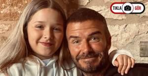 David Beckham'ın Kızını Öptüğü Fotoğraf Tepkilere Yol Açtı - 1