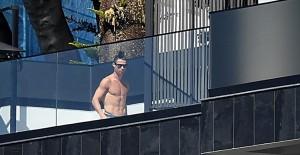 Cristiano Ronaldo Evinde Karantinada Görüntülendi - 1
