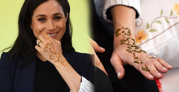 Prens Harry'nin Eşi Meghan Markle Ellerine Kına Yaptırdı - 1