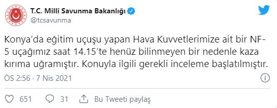 Konya'da Askeri Uçak Düştü!351456246