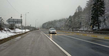 Bolu Dağı'nda Kar Yağışı Tesirini Artırdı