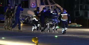 Dağda Mahsur Kalan 4 Kişi Askeri Helikopterle Kurtarıldı