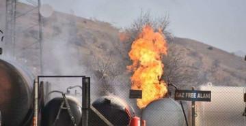 Dökme Gaz Tankında Yangın Çıktı