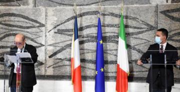İtalya Ve Fransa Dışişleri Bakanları Roma'da Bir Araya Geldi