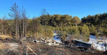 Köyde Yangın Çıktı: 60 Arı Kovanı Küle Döndü