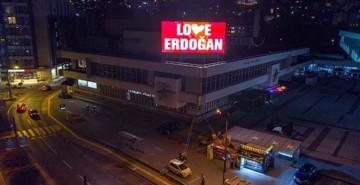 """Saraybosna'dan """"Love Erdoğan"""" Mesajı"""