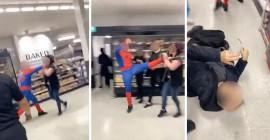 İngiltere'de Örümcek Adam Market Çalışanına Saldırdı