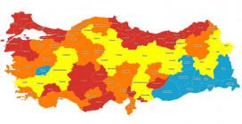 Sağlık Bakanlığı'nın Haritasında Riskli İllerin Sayısı 48'e Çıktı