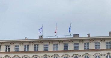 Avusturya'da Devlet Binalarına İsrail Bayrağı Asıldı