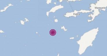 Ege Denizi Datça'da Açıklarında Arka Arkaya 3 Deprem