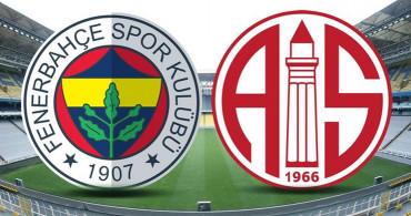 Maç Sona Erdi! Fenerbahçe 1-1 Antalyaspor