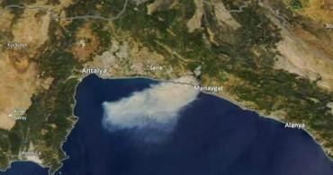 Manavgat'taki Yangın Uydudan Görüntülendi!
