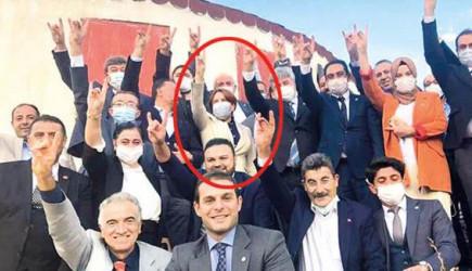Akşener'in İYİ Parti'lilerle Bozkurt Selamı Pozuna MHP'den Tepki!