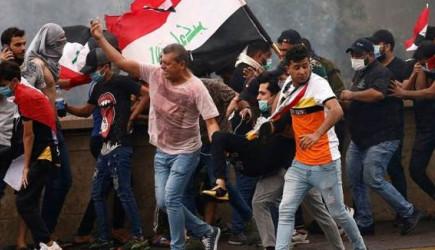 Bağdat'ta Göstericiler Ve Güvenlik Güçleri Çatıştı