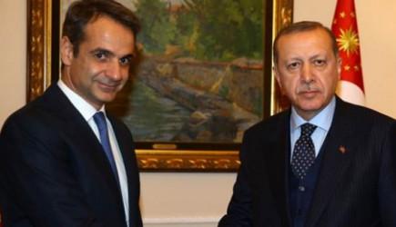 Başkan Erdoğan, Miçotakis İle Görüştü