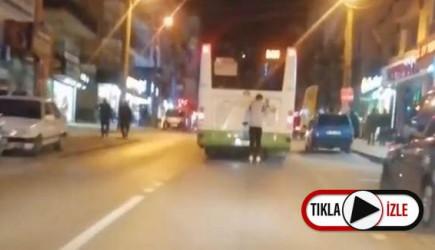 Bursa'da Tehlikeli Yolculuk! O Anlar Kamerada