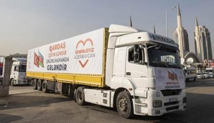Diyanet'ten Azerbaycan'a 6 Tır İnsani Yardım Malzemesi