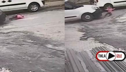 Ehliyetsiz Şahıs Üç Yaşındaki Bebeğe Çarpıp Kaçtı