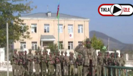 İşgal Altında Kurtarılan Zengilan Kentine Azerbaycan Bayrağı Dikildi