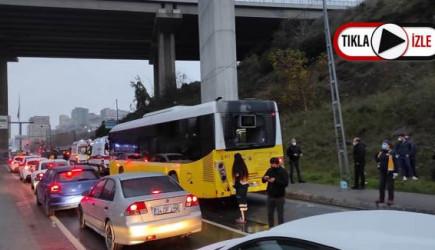 Kağıthane'de Hafriyat Kamyonu İETT Otobüsüne Çarptı: Dokuz Yaralı