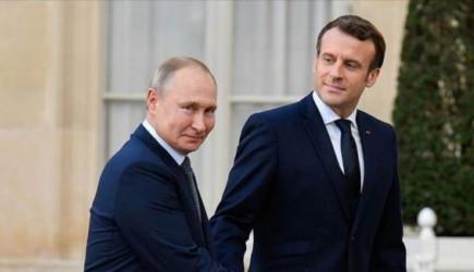 Macron'dan Rusya'ya iş birliğimizi güçlendirelim mesajı