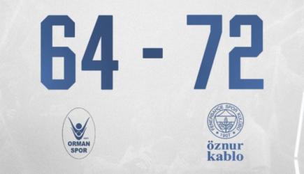 OGM Ormanspor 64-72 Fenerbahçe Öznur Kablo