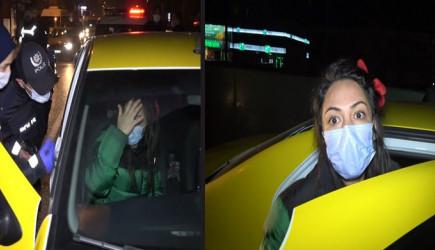Ticari Takside Alkol Kullanırken Yakalandı