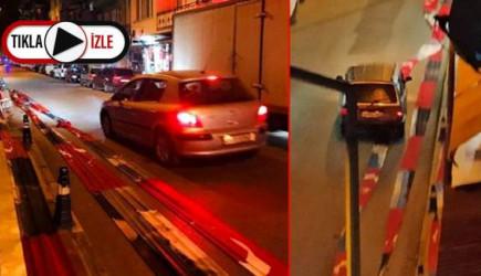 Türk Bayrağını Yola Serdiler, Araçlar Üzerinden Geçti!