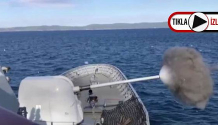 Türk Deniz Kuvvetleri'nden Saros Körfezi'nde Atış Talimi