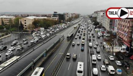 Yasağa Saatler Kala E-5'te Trafik Yoğunluğu Başladı