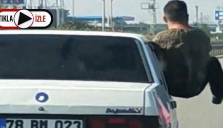 Yine Trafik Magandası! Yer Bursa Böyle Tehlikelisi Görülmedi