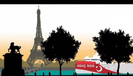 Yunan Gazetesi Oruç Reis'in Fransa'da Nehre Sıkıştığını Gösteren Karikatür Yayımladı