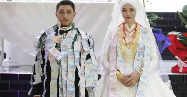 Aşiret Düğününde 40 Dakikada 1 Milyon Liralık Takı Takıldı