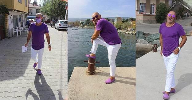 Bursa'da 52 Yaşındaki Youtuber Muhtar Renkli Tarzıyla Dikkat Çekiyor