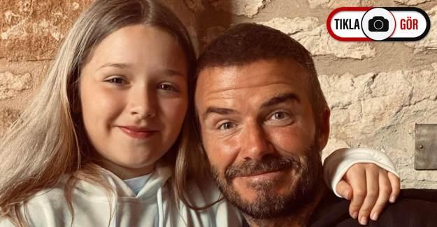 David Beckham'ın Kızını Öptüğü Fotoğraf Tepkilere Yol Açtı