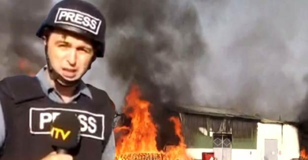 Ermenistan Terter'de Fabrika Vurdu, NTV Ekibi Canlı Yayında Yakalandı
