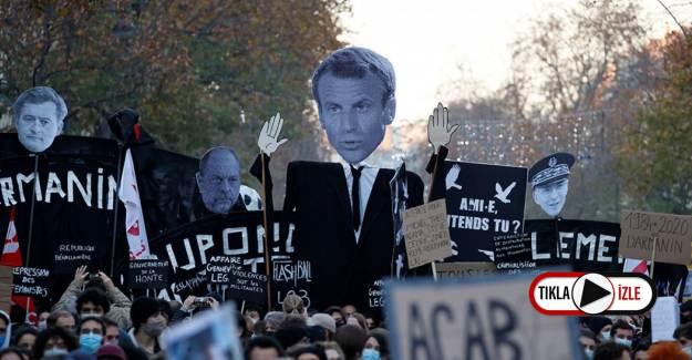 Fransız Polisinden Eylemcilere Sert Karşılık