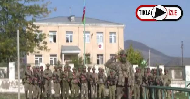 İşgal Altından Kurtarılan Zengilan Kentine Azerbaycan Bayrağı Dikildi