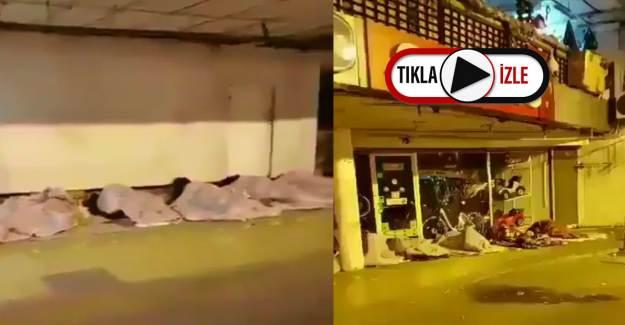İstanbul'da Yürek Burkan Görüntü! Sokağa Çıkma Yasağı Acı Gerçeği Gözler Önüne Serdi