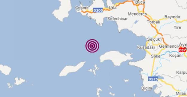 İzmir'de Bir Deprem Daha Meydana Geldi