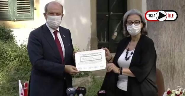 KKTC'nin Beşinci Cumhurbaşkanı Ersin Tatar Mazbatasını Aldı