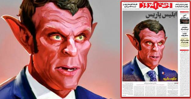 Komşu Ülkeden Macron'a Şeytan Karikatürü: Paris İblisi