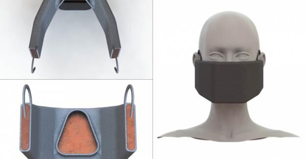 Koronavirüsü Isıtarak Öldüren Elektrikli Yüz Maskesi