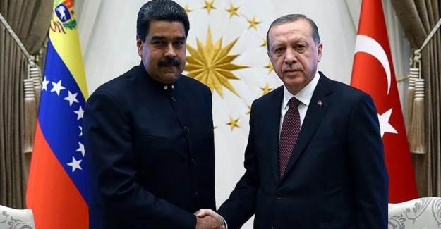 Maduro'dan Cumhurbaşkanı Erdoğan'a Teşekkür Mesajı