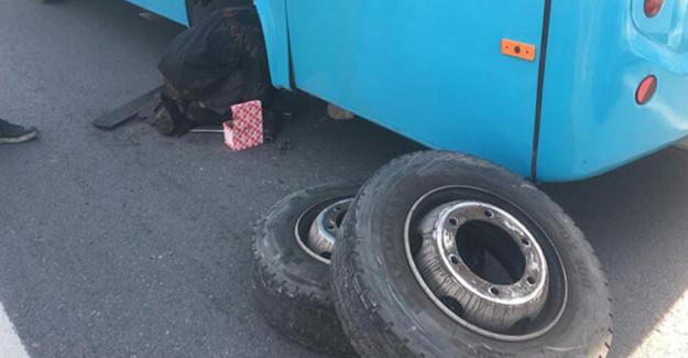 Otobüsten Fırlayan Tekerlek Ortalığı Karıştırdı