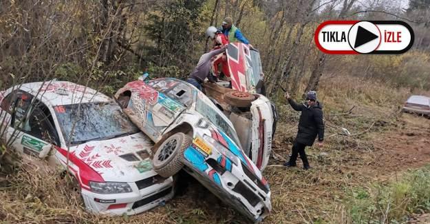 Rus Rallisinde Altı Araç Aynı Noktaya Uçtu